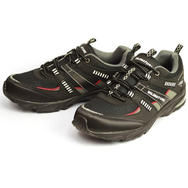 WILD NATURE 防水 スニーカー メンズ 靴 軽量 レインシューズ シューズ 雨靴 メッシュ 通気性 カジュアルシューズ 作業用 ローカット スリッポン 紐靴|apricot-town|07