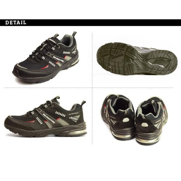 WILD NATURE 防水 スニーカー メンズ 靴 軽量 レインシューズ シューズ 雨靴 メッシュ 通気性 カジュアルシューズ 作業用 ローカット スリッポン 紐靴|apricot-town|08