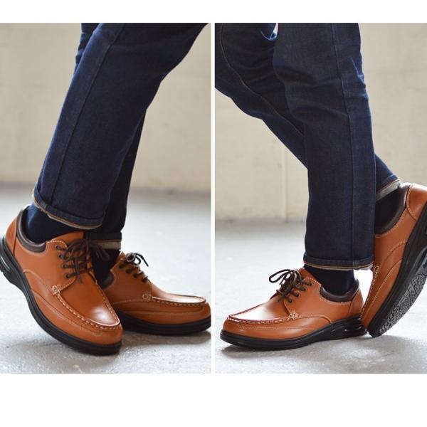 ウォーキングシューズ スニーカー メンズ 軽量 コンフォートシューズ 幅広 4EEEE 防滑 カジュアルシューズ 紳士靴 革靴 クッション エアークッション|apricot-town|10