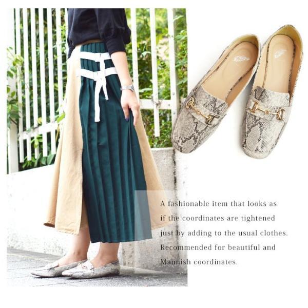 レディース ビットローファー フラット パンプス ローファー スクエアトゥ 痛くない 歩きやすい 履き易い フォーマル カジュアル キレイめ お洒落 大人 女性 靴|apricot-town|11