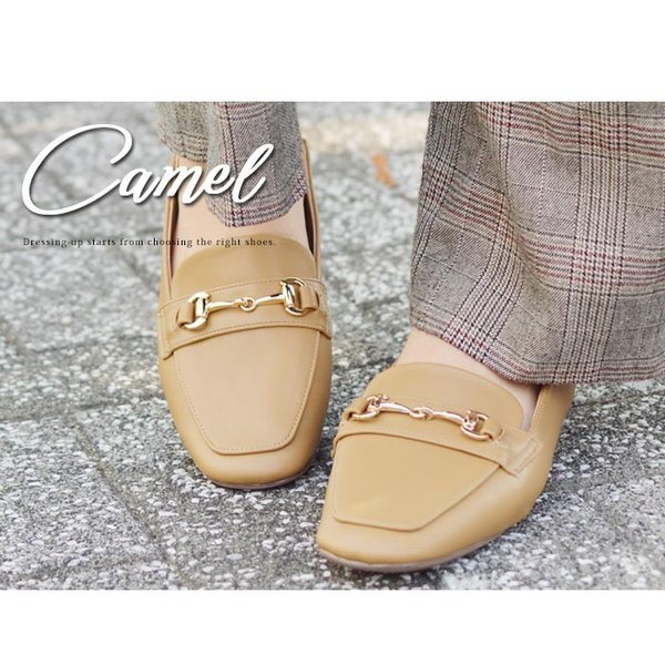 レディース ビットローファー フラット パンプス ローファー スクエアトゥ 痛くない 歩きやすい 履き易い フォーマル カジュアル キレイめ お洒落 大人 女性 靴|apricot-town|14