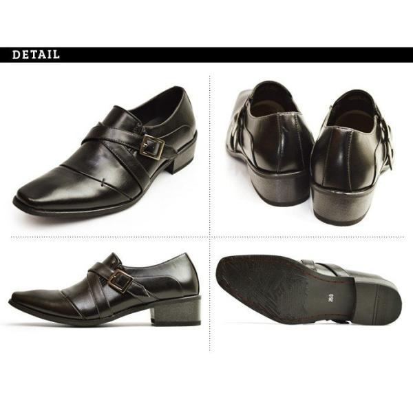 ビジネスシューズ 2足セット ビジネス メンズ スリッポン ストレートチップ ウイングチップ スクエアトゥ モンクストラップ 革靴 脚長 紳士靴 靴 選べる福袋|apricot-town|14