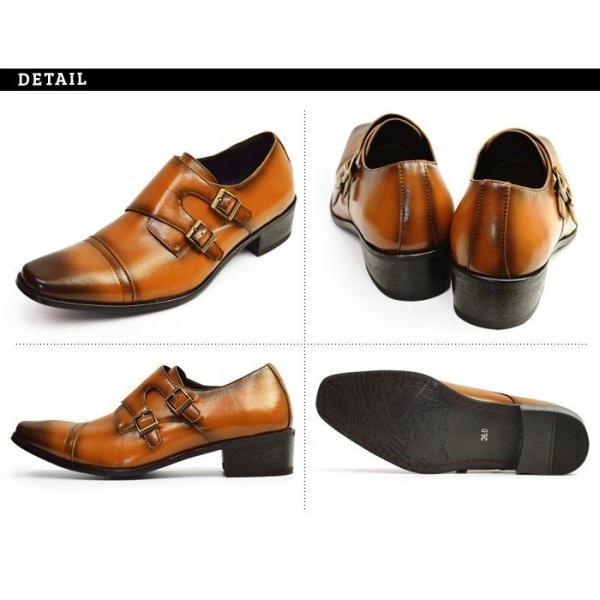 ビジネスシューズ 2足セット ビジネス メンズ スリッポン ストレートチップ ウイングチップ スクエアトゥ モンクストラップ 革靴 脚長 紳士靴 靴 選べる福袋|apricot-town|16