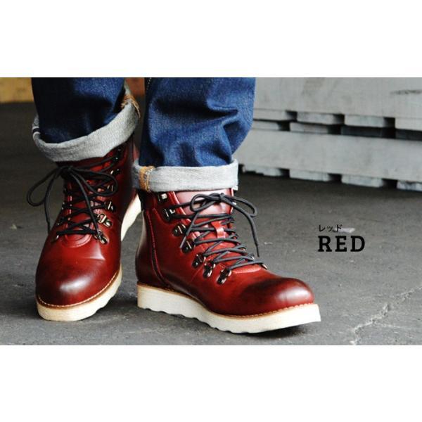 ワークブーツ マウンテンブーツ ブーツ メンズ ショートブーツ ヒールアップ インソール付き メンズブーツ シューズ 靴 2018 冬|apricot-town|05