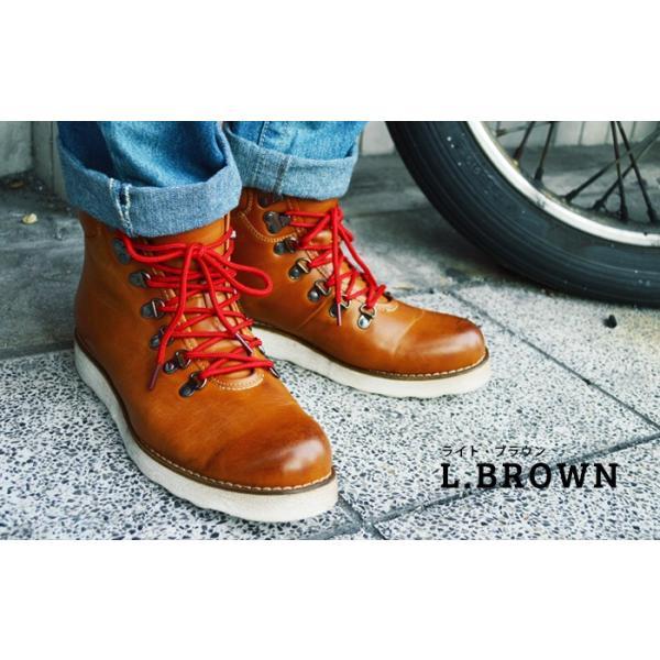 ワークブーツ マウンテンブーツ ブーツ メンズ ショートブーツ ヒールアップ インソール付き メンズブーツ シューズ 靴 2018 冬|apricot-town|07