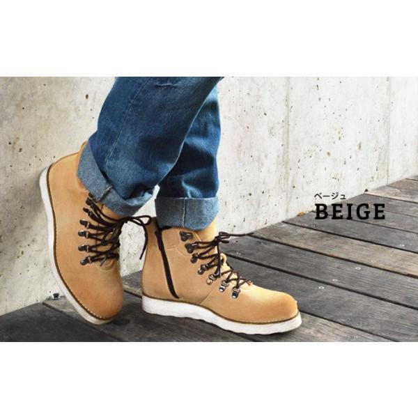 ワークブーツ マウンテンブーツ ブーツ メンズ ショートブーツ ヒールアップ インソール付き メンズブーツ シューズ 靴 2018 冬|apricot-town|09