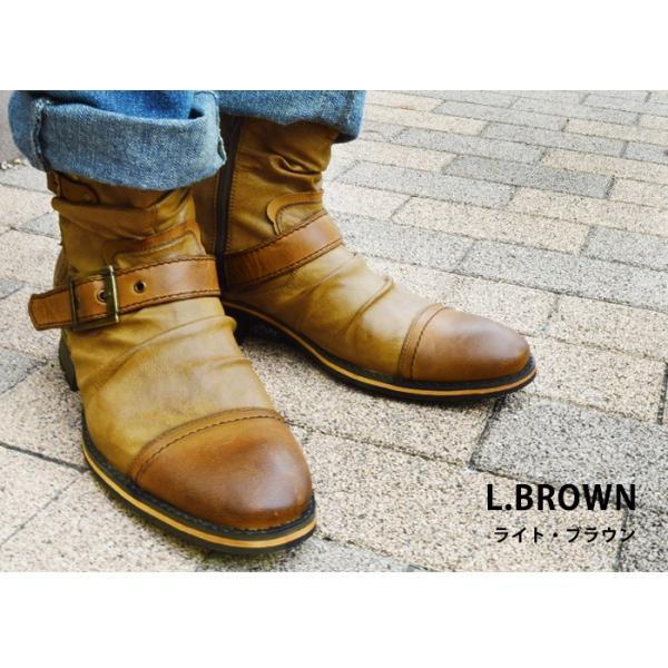 エンジニアブーツ メンズ ブーツ ショートブーツ ワークブーツ ドレープブーツ ライダース バイカーズブーツ ヴィンテージ 靴 メンズシューズ 2020 冬|apricot-town|14