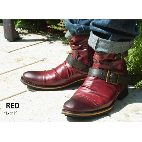 エンジニアブーツ メンズ ブーツ ショートブーツ ワークブーツ ドレープブーツ ライダース バイカーズブーツ ヴィンテージ 靴 メンズシューズ 2020 冬|apricot-town|17