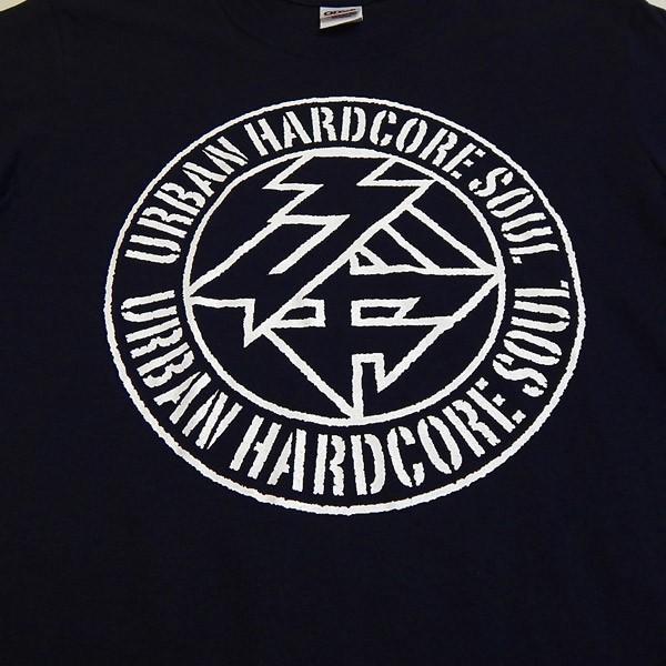 驢馬:URBAN HARDCORE SOUL ロゴTシャツ/ネイビー/キッズL【ファッション バンド Tシャツ】|aprilfoolstore|03