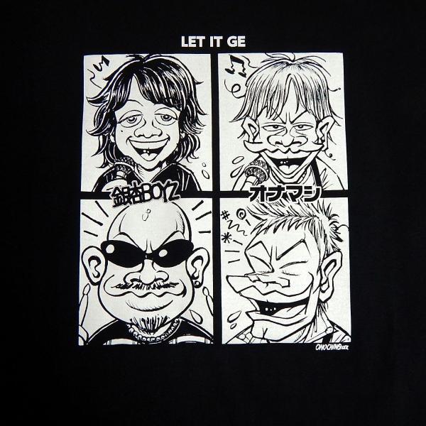 オナニーマシーン:オナマシ×銀杏BOYZ 「LET IT GE」Tシャツ/メンズ&レディース/ファッション バンド Tシャツ/メール便対応可|aprilfoolstore|02