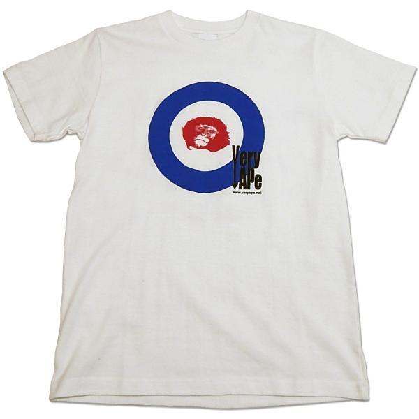 Very Ape(ヴェリーエイプ):「WHO?」Tシャツ/ホワイト/メンズ&レディース(キッズL)【ファッション バンド Tシャツ】|aprilfoolstore