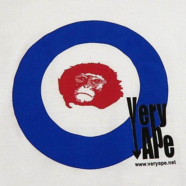 Very Ape(ヴェリーエイプ):「WHO?」Tシャツ/ホワイト/メンズ&レディース(キッズL)【ファッション バンド Tシャツ】|aprilfoolstore|03