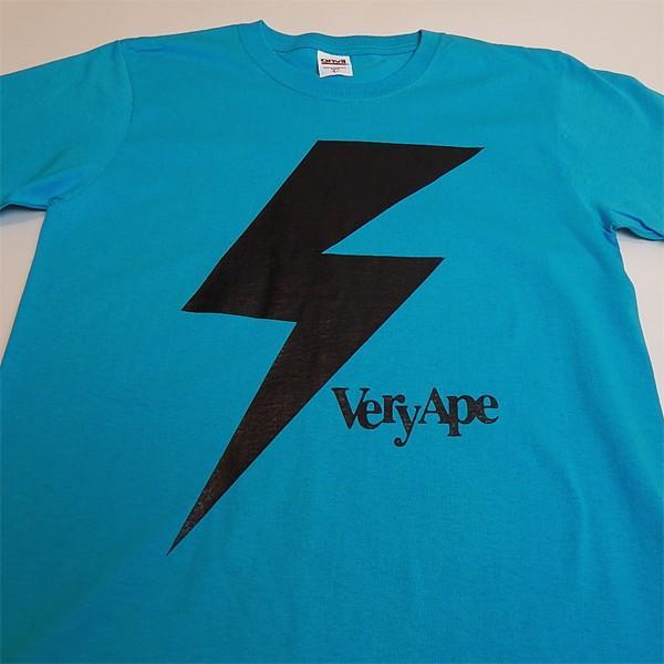 Very Ape(ヴェリーエイプ):「カミナリBOY」Tシャツ/カリビアンブルー/メンズ&レディース(キッズ)【ファッション バンド Tシャツ】|aprilfoolstore|02