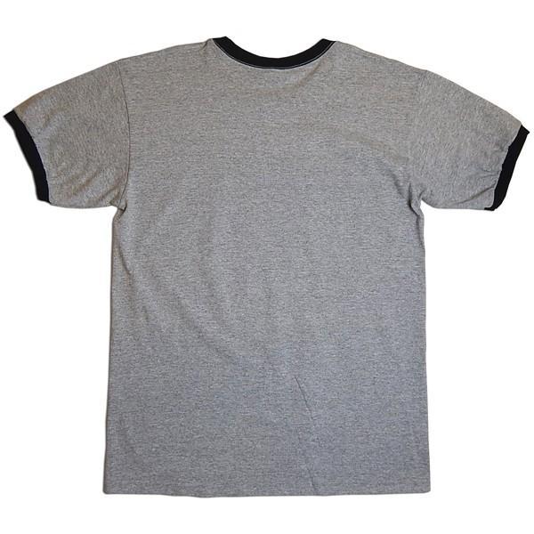 Very Ape(ヴェリーエイプ):「HELL」リンガーTシャツ/グレー×ブラック/メンズ【ファッション バンド Tシャツ】|aprilfoolstore|02