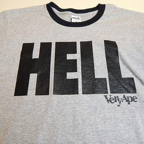 Very Ape(ヴェリーエイプ):「HELL」リンガーTシャツ/グレー×ブラック/メンズ【ファッション バンド Tシャツ】|aprilfoolstore|03