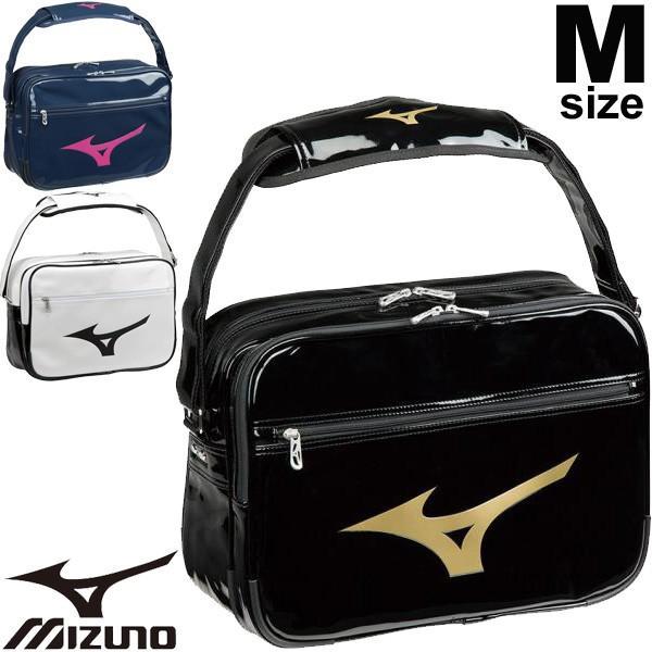 27bda416929a エナメルバッグ ショルダーバッグ Mサイズ Mizuno ミズノ スポーツバッグ 20L メンズ レディース ジュニア 学生 ビッグロゴ ...