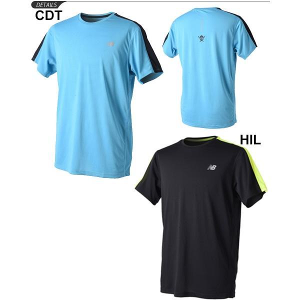 Tシャツ 半袖 メンズ ニューバランス NEWBALANCE HANZO/スポーツウェア 男性用 マラソン ジョギング トレーニング 無地 吸汗速乾 トップス/AMT83062|apworld|02