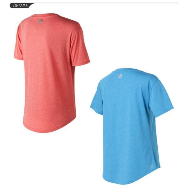 7b92f1be3bc4d ... 半袖 Tシャツ レディース ニューバランス newbalance ヘザーテック TEE/ランニング ジムトレーニング フィットネス 女性/  ...