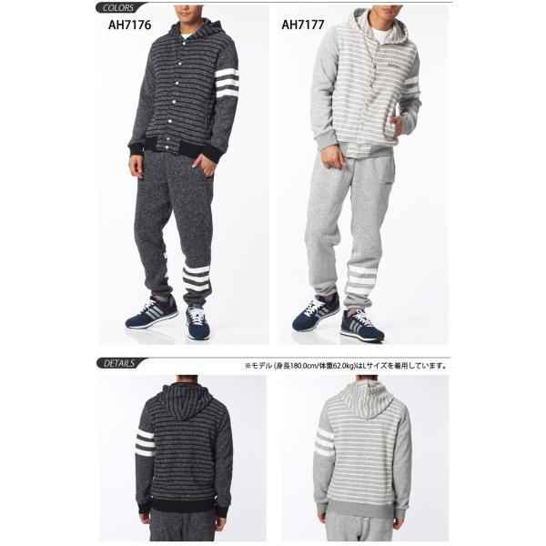 adidas/アディダス/メンズ/HM モードミックスニットフリースボーダースタジャン&パンツ上下セット/ BCN69-BCN72|apworld|02