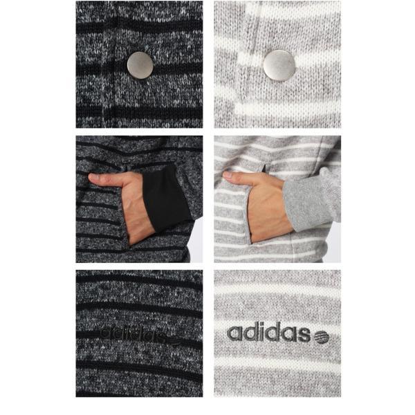 adidas/アディダス/メンズ/HM モードミックスニットフリースボーダースタジャン&パンツ上下セット/ BCN69-BCN72|apworld|04
