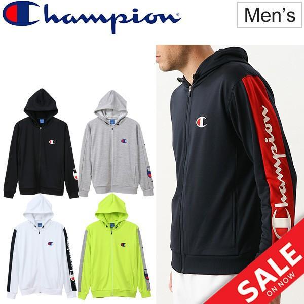 トレーニングウェア ジャケット メンズ チャンピオン champion ジップパーカー スポーツウェア ジャージ 男性 カジュアル ロゴ /C3-PS110