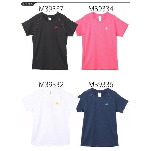 レディース 半袖Tシャツ ランニングウェア  アディダス/adidas  マラソン メール便OK /DDE09|apworld|02