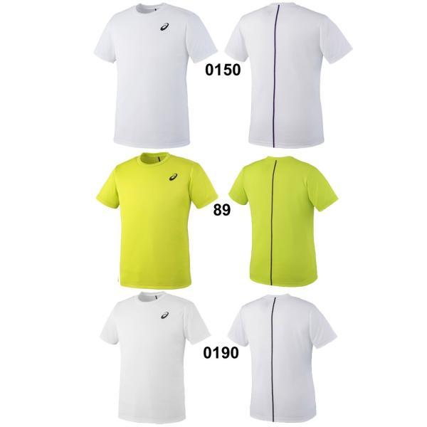 Tシャツ 半袖 メンズ レディース/アシックス asics トレーニンングシャツ ウォームアップ ランニング ジム ワンポイント 半袖シャツ シンプル/EZT719|apworld|03