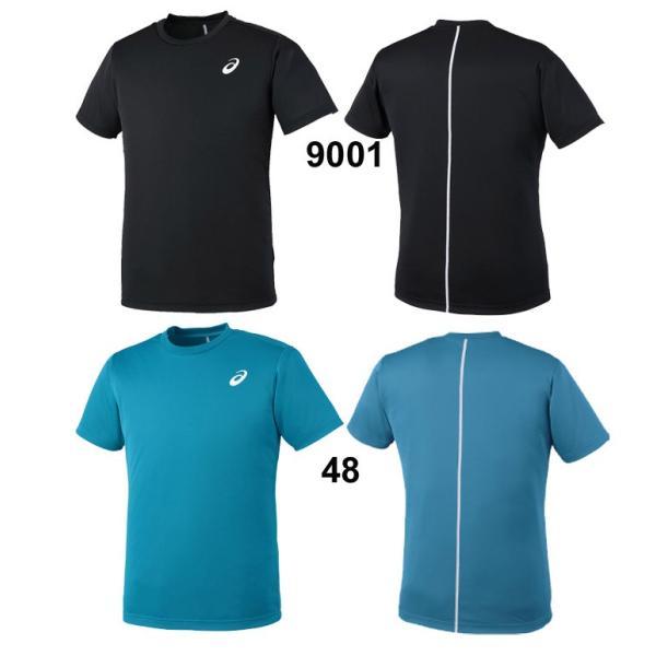 Tシャツ 半袖 メンズ レディース/アシックス asics トレーニンングシャツ ウォームアップ ランニング ジム ワンポイント 半袖シャツ シンプル/EZT719|apworld|04