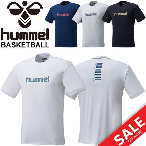 Tシャツ 半袖 メンズ レディース ヒュンメル hummel バスケットボール ロゴT/スポーツウェア プラクティスシャツ 練習着 部活 クラブ 吸汗速乾/HAPB4009|apworld