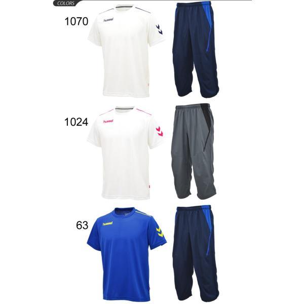 半袖Tシャツ クロップドパンツ 2点セット メンズ/ヒュンメル hummel トレーニングウェア 半袖シャツ 7分丈パンツ サッカー フットボール/HAY2078-HAY6010CP|apworld|02