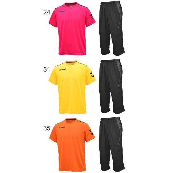 半袖Tシャツ クロップドパンツ 2点セット メンズ/ヒュンメル hummel トレーニングウェア 半袖シャツ 7分丈パンツ サッカー フットボール/HAY2078-HAY6010CP|apworld|04