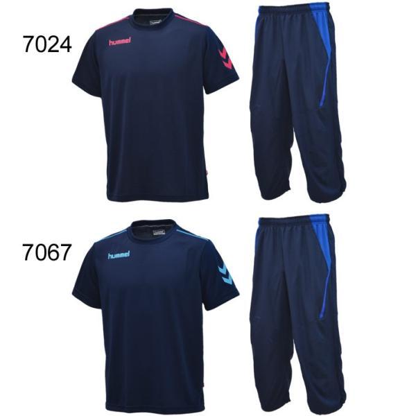 半袖Tシャツ クロップドパンツ 2点セット メンズ/ヒュンメル hummel トレーニングウェア 半袖シャツ 7分丈パンツ サッカー フットボール/HAY2078-HAY6010CP|apworld|05