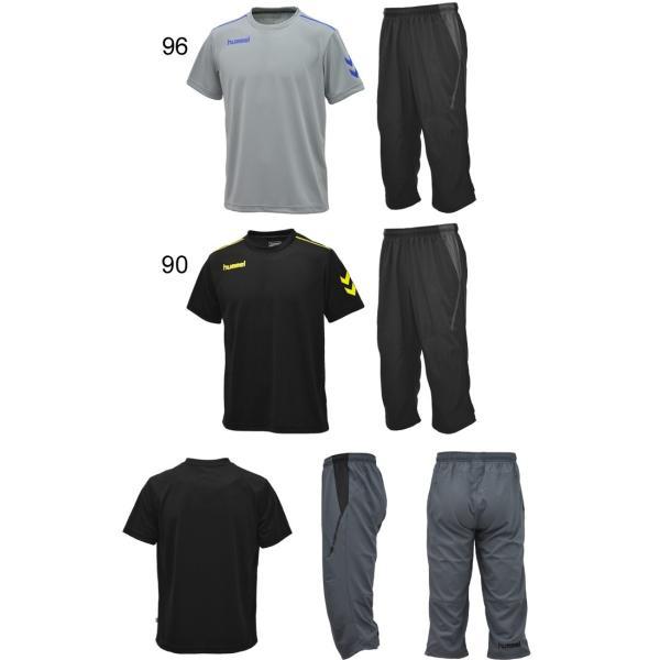 半袖Tシャツ クロップドパンツ 2点セット メンズ/ヒュンメル hummel トレーニングウェア 半袖シャツ 7分丈パンツ サッカー フットボール/HAY2078-HAY6010CP|apworld|06