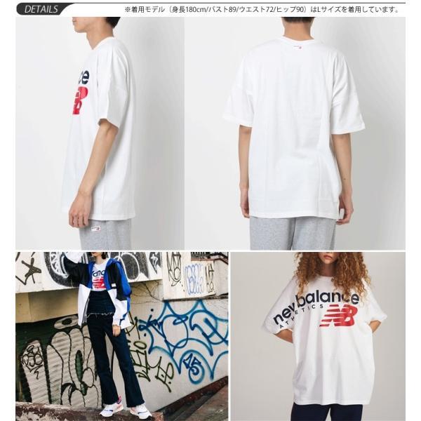 3ef4b77326122 ... Tシャツ 半袖 メンズ レディース ニューバランス NewBalance NBアスレチック クロスオーバー TEE オーバーサイズ ビッグロゴ  ストリート