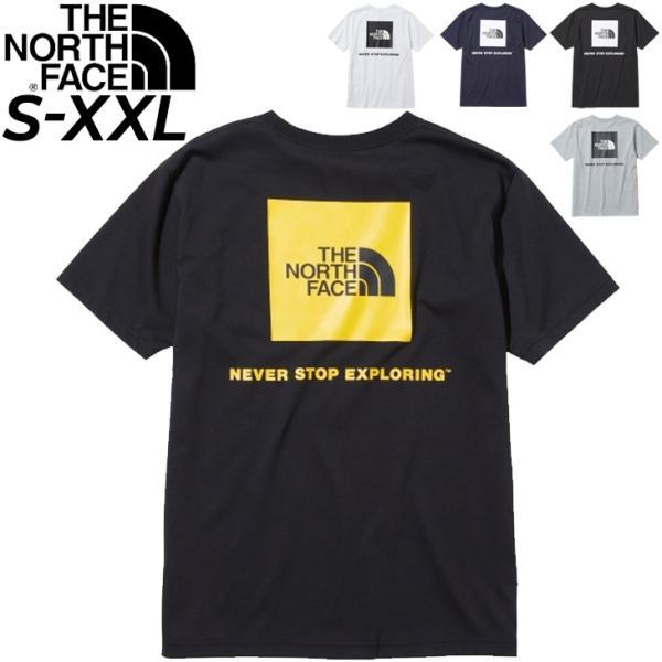 メンズ半袖TシャツノースフェイスTHENORTHFACES/Sバックスクエアーロゴティ/アウトドアウェアカジュアルバックプリント
