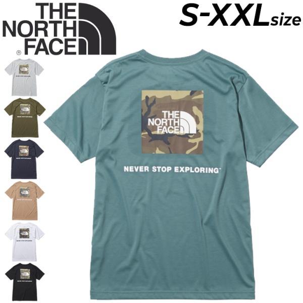 Tシャツ半袖メンズノースフェイスTHENORTHFACEスクエアカモフラージュティー/アウトドアカジュアルウェア速乾バックプリン