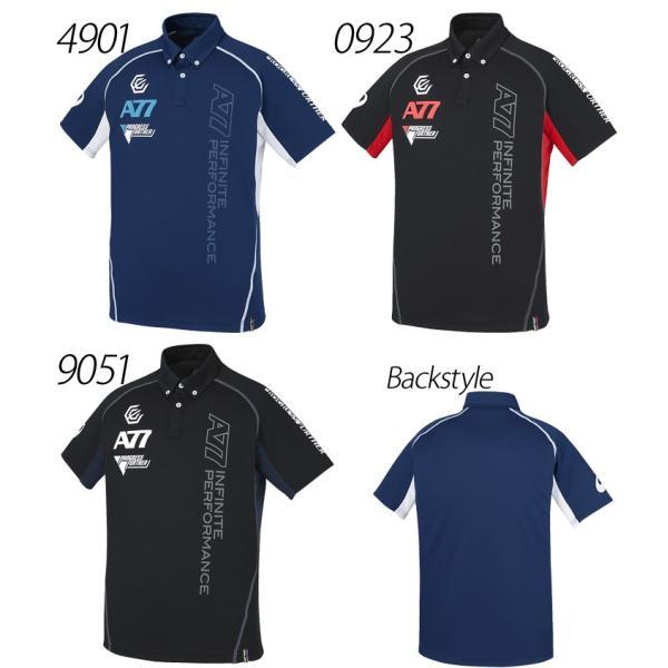 アシックス asics /メンズ 半袖 ボタンダウンシャツ A77 ランニング トレーニングウェア スポーツウェア 紳士・男性用 半袖ポロシャツ /XA6193 apworld 03