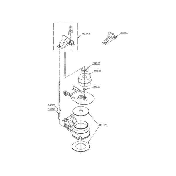TOTOトイレまわり取り替えパーツHH08008Z排水弁ロータンク式大便器用排水弁部