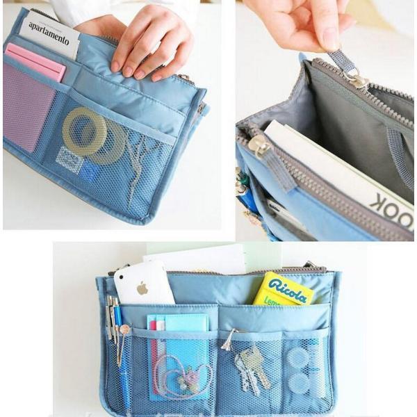 人気 レディースバッグインバッグ 化粧ポーチ 整理 収納  トートバッグ  使いやすい|aqin|04