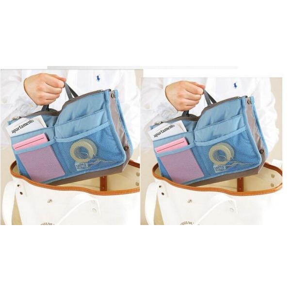 人気 レディースバッグインバッグ 化粧ポーチ 整理 収納  トートバッグ  使いやすい|aqin|06