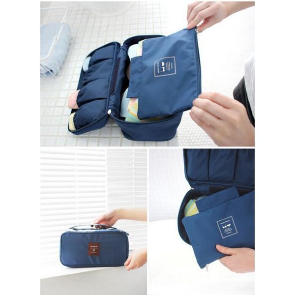 バッグインバッグ 人気 バックインバック インナーバッグ トラベルバッグ トラベルポーチ 整理 旅行用品 トラベルケース|aqin