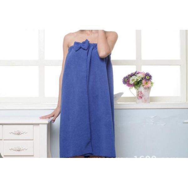 リボン付きバスタオル 着るタオル 新作 ゆったりサイズ マイクロファイバー ルームウェア パレオ ワンピース 風|aqin|03
