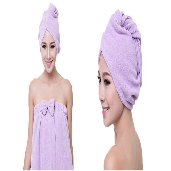 吸水キャップ タオル マイクロ ファイバー ヘア ドライ キャップ ヘア 乾燥 帽子 キャップ aqin 02
