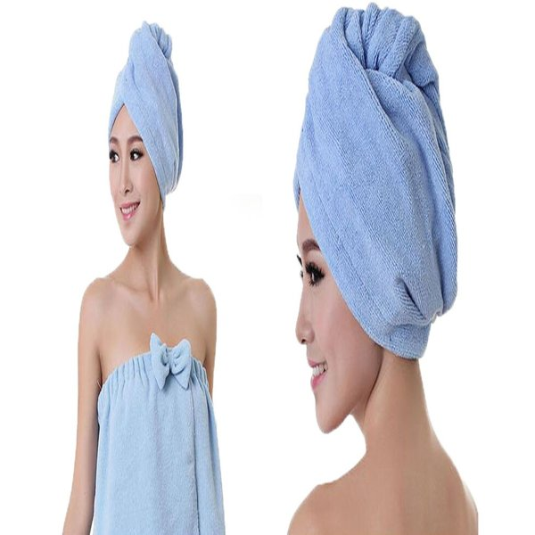 吸水キャップ タオル マイクロ ファイバー ヘア ドライ キャップ ヘア 乾燥 帽子 キャップ aqin 03