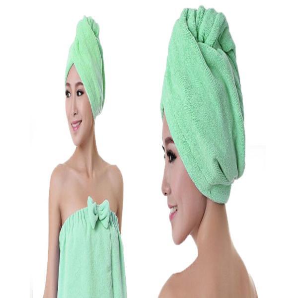 吸水キャップ タオル マイクロ ファイバー ヘア ドライ キャップ ヘア 乾燥 帽子 キャップ aqin 07