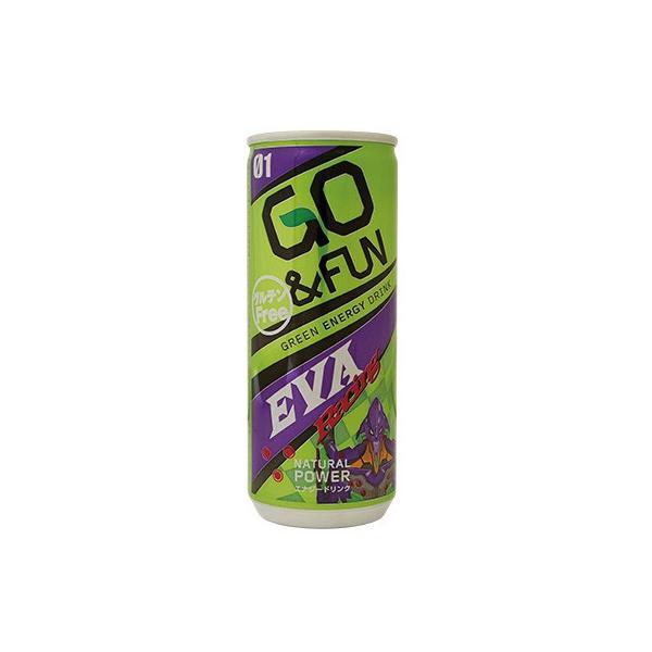 GO&FUN エナジードリンク エヴァンゲリオン缶 250ml×30本 賞味期限:2020年3月14日|aqua-feel