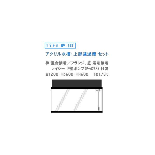 W1200×D600×H600 アクリル水槽 P型セット