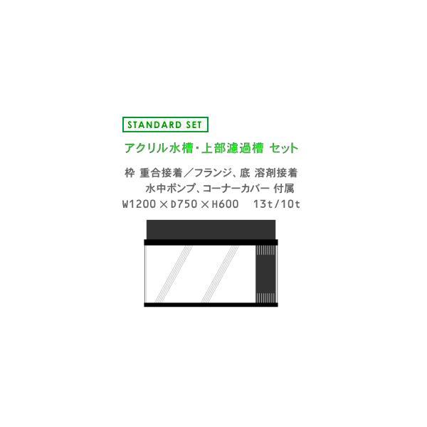 W1200×D750×H600 アクリル水槽 スタンダードセット