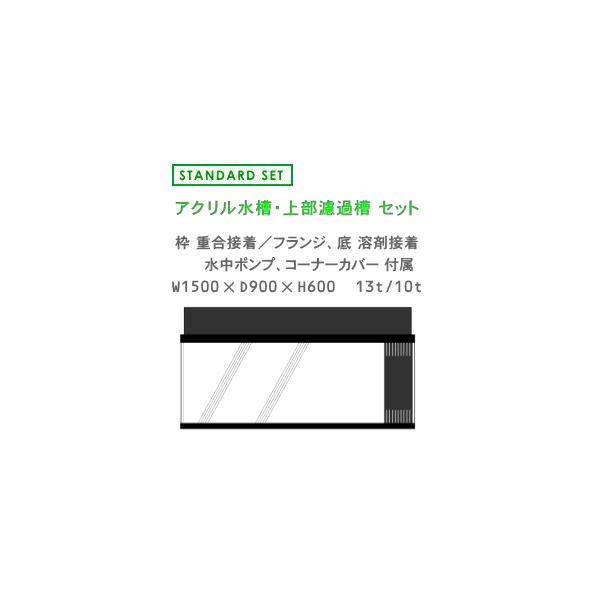 W1500×D900×H600 アクリル水槽 スタンダードセット