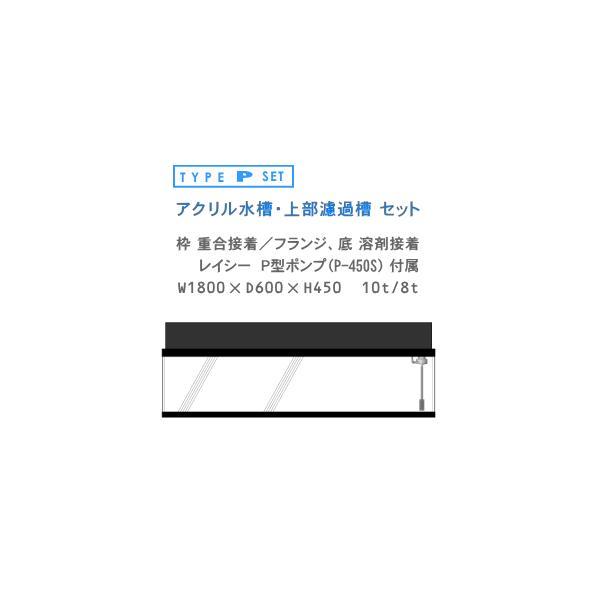 W1800×D600×H450 アクリル水槽 P型セット